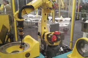 机器人去毛刺+检测+快换装置